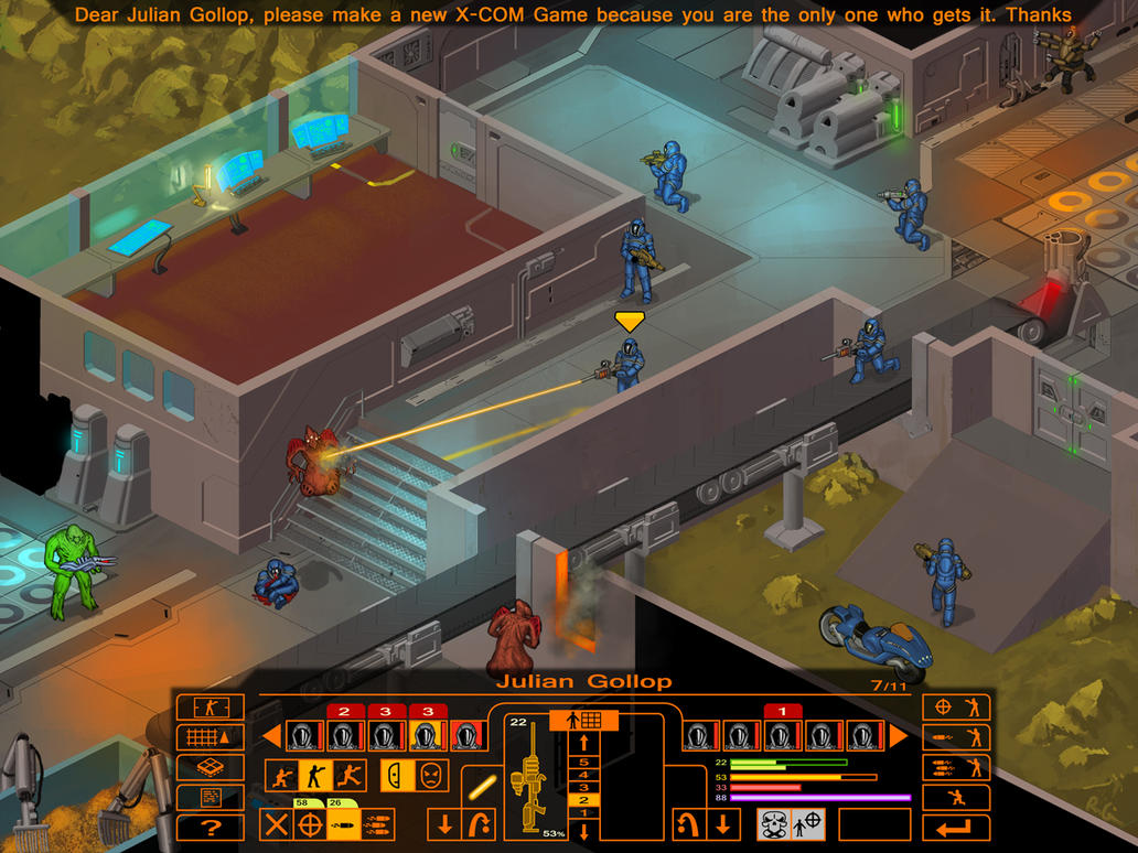 Dear Julian Gollop, 5: X-COM 4 by I2ebis