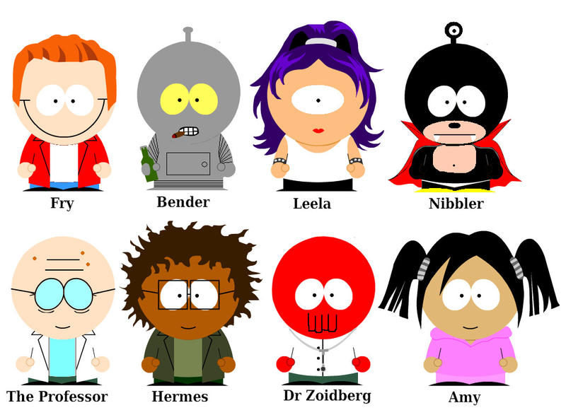 south park characters Futurama