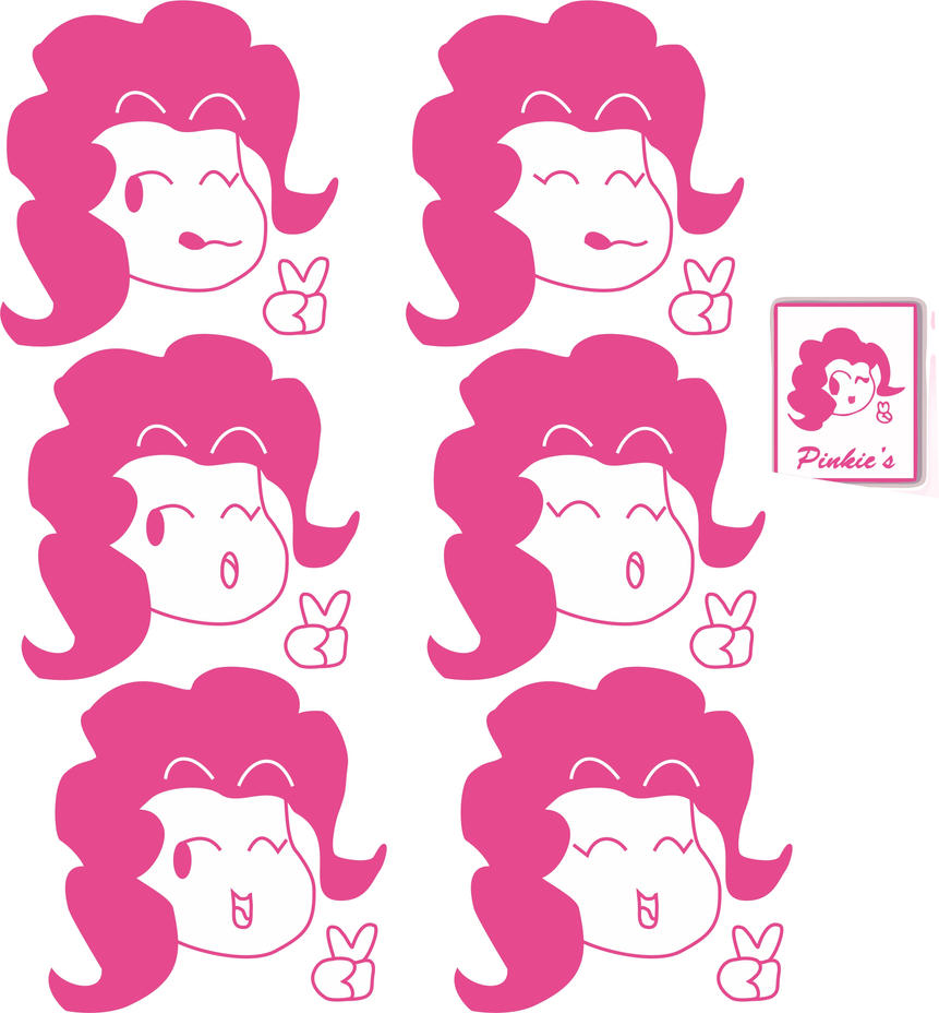 Pinkies logo sketches by sigel4ever