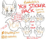 Sticker Pack - Canine Basics by Sp00kyChair