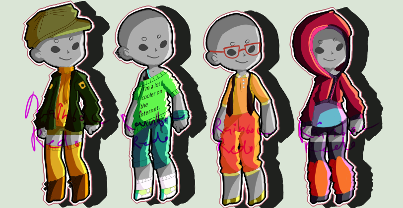 Outfit Adopts #1 (CLOSED) by RainbowRedo
