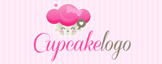 Cute Cupcake Logos Free Cute Cupcake Logo by