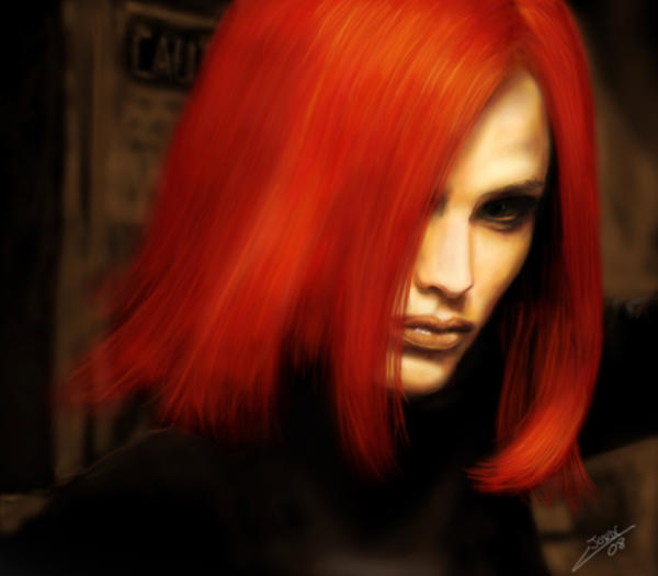 Redhead Jennifer by Joruji