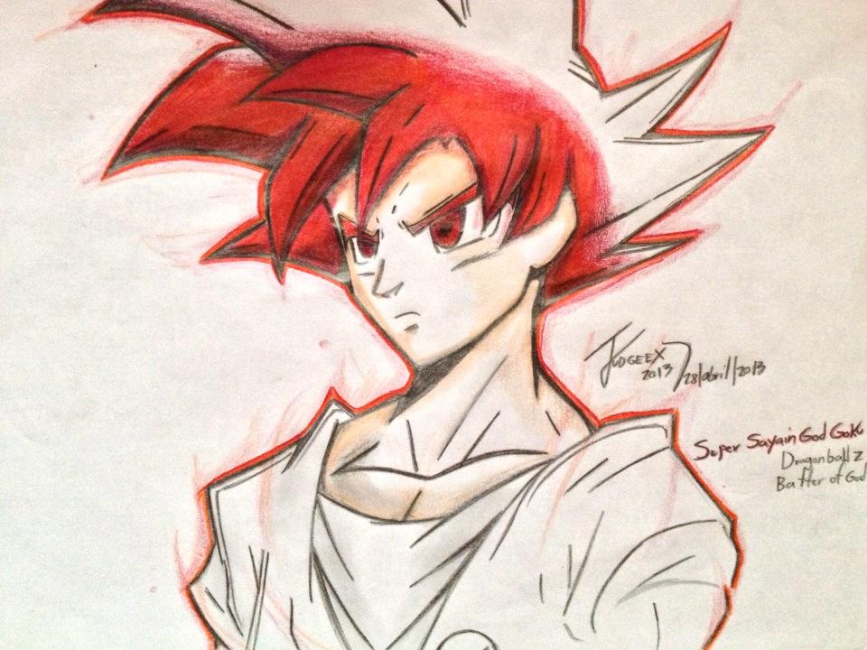 Goku Super Saiyan God Drawings Super Saiyan God...960