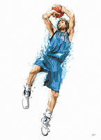 Dirk's One Foot Fadeaway by earlsonvios