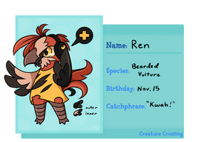 [CREATURE CROSSING] Ren by grayscail