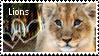 lion stamp by muddyputty