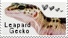 Leapard gecko stamp