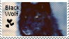 Black wolf stamp by muddyputty