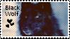 Black wolf stamp by muddyputty