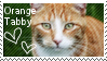 orange tabby stamp by muddyputty
