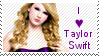 i love Taylor Swift stamp by muddyputty