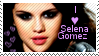 I love Selena Gomez stamp by muddyputty