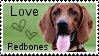 Redbone dog stamp by muddyputty