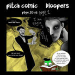 Pitch Comic Bloopers page 20 vs page 1