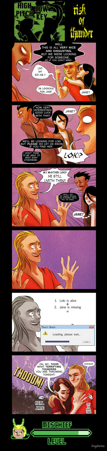 Risk Of Thunder-SPOILERS FOR THOR 2!! by frogsfortea