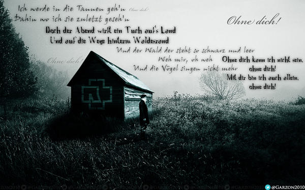 Текст и перевод песни Rammstein Ohne Dich