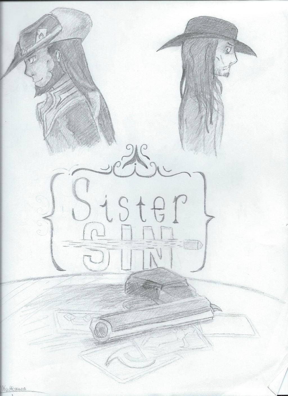 Sister Sin (Sketch) by blackandredwolf96