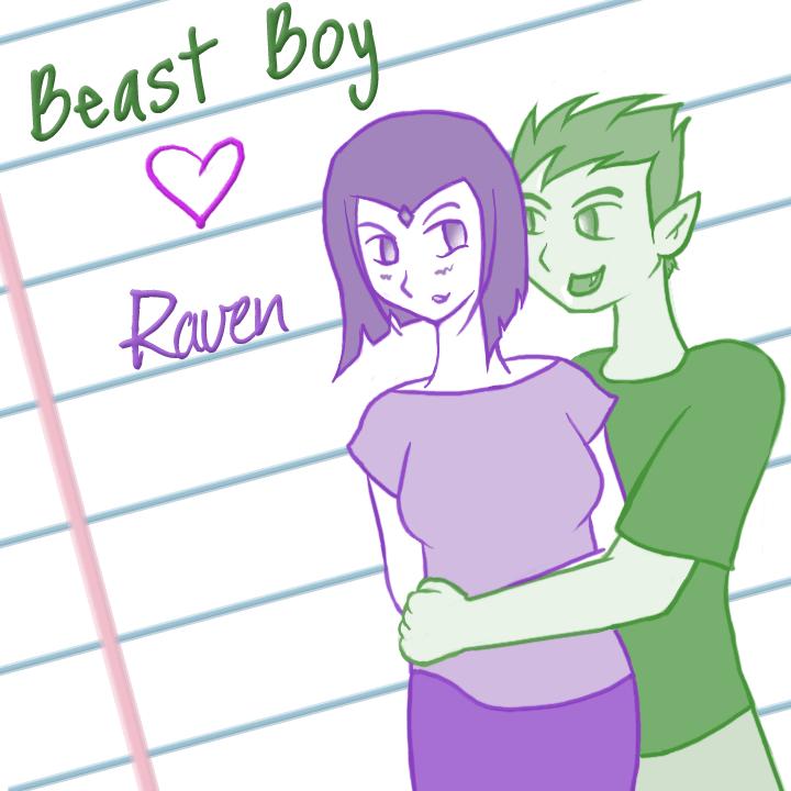 Beast Boy And Raven Love Beast Boy Loves Raven