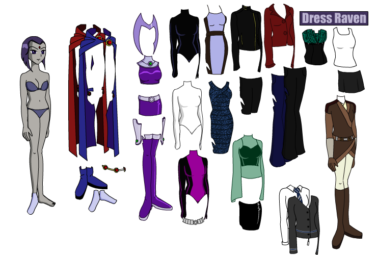 Raven Teen Titans Dress Up 72