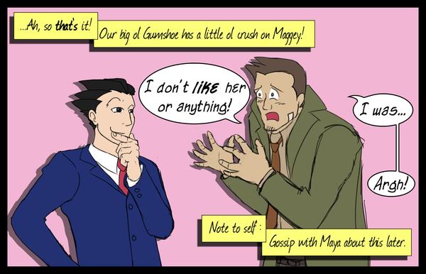 PW: Gumshoe's got a crush by kryptocow