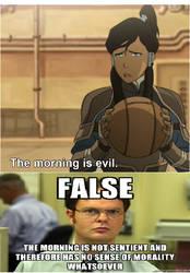 Korra vs Dwight by Elecman99
