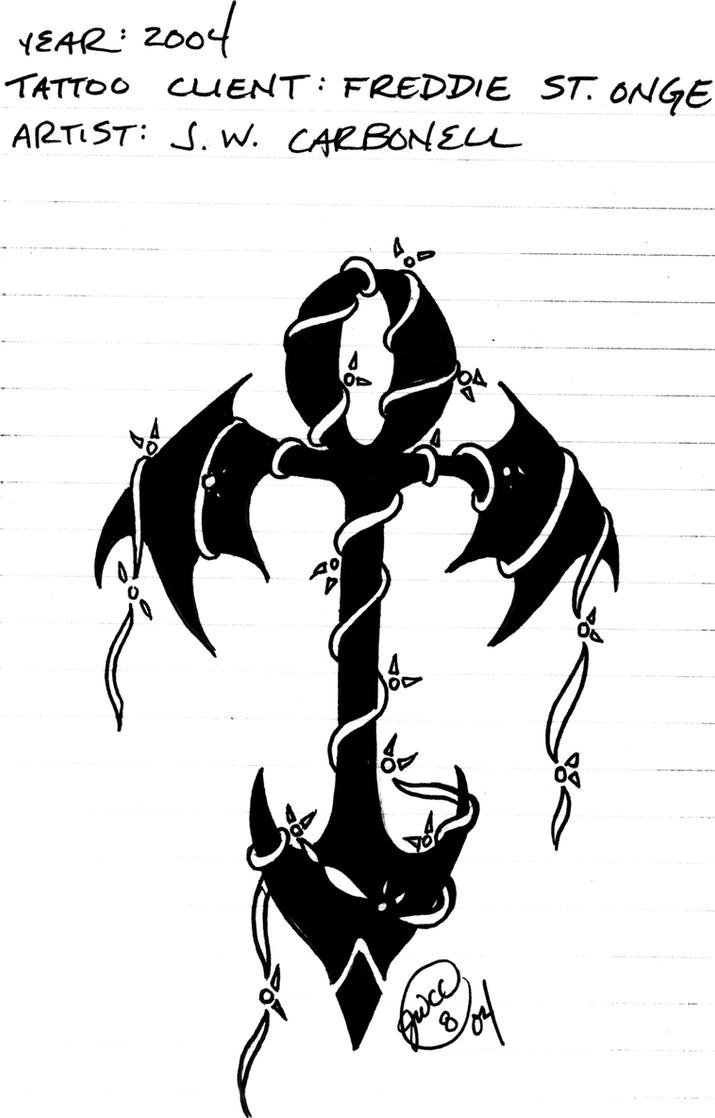 Ankh w barbed wire tattoo by hsien-lung on DeviantArt