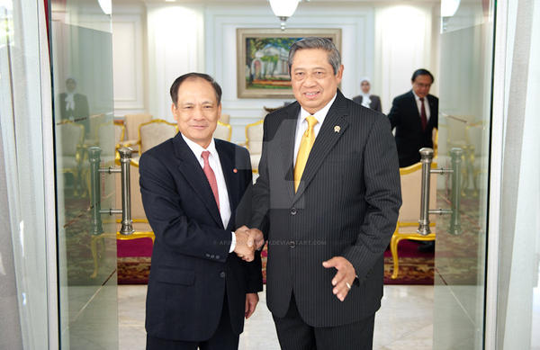 ASEAN Sec-Gen with President of Indonesia by afiphotograph