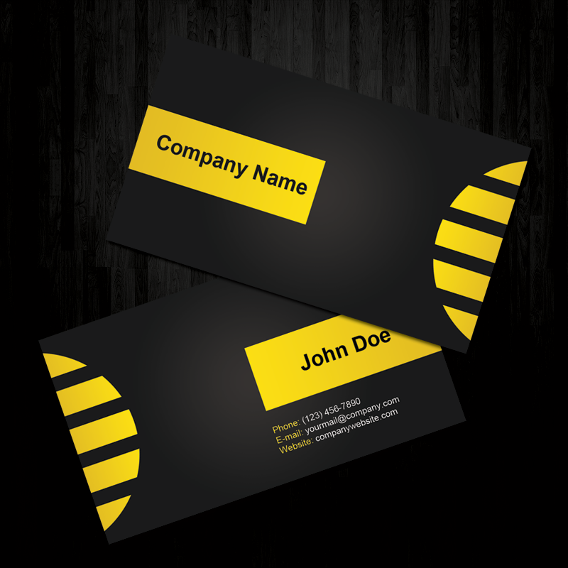 Black and Yellow Business Card by ~MathewT