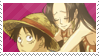 luffy x hancock stamp by ivivistar