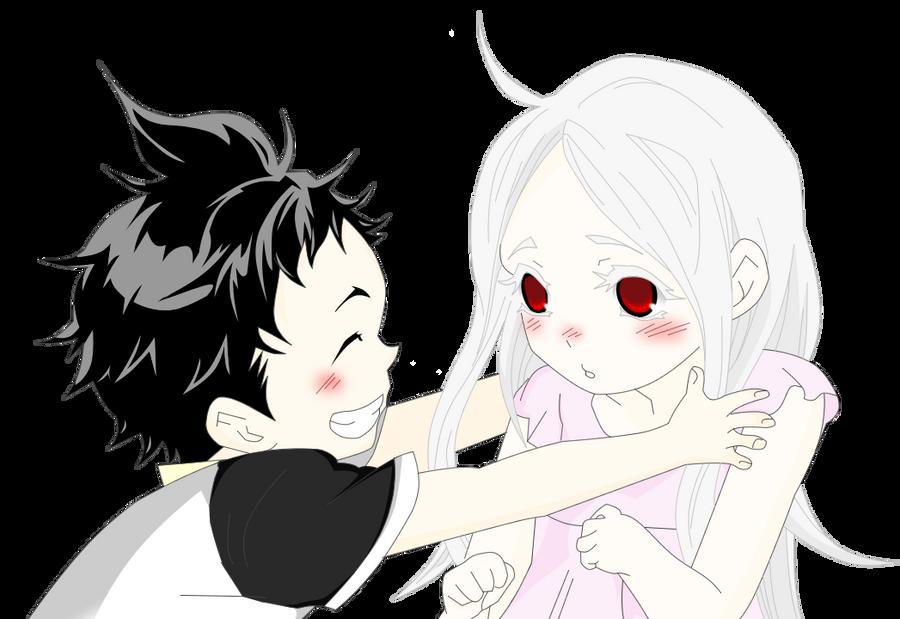 Ganta y Shiro by Chrome-Asakura