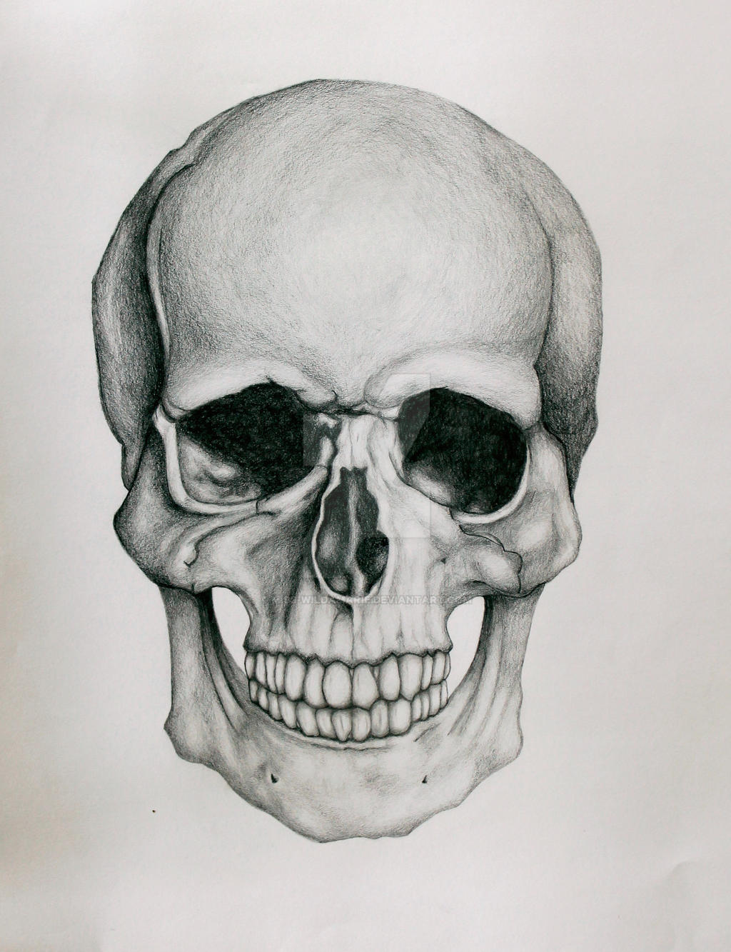 Black And White Skull Painting