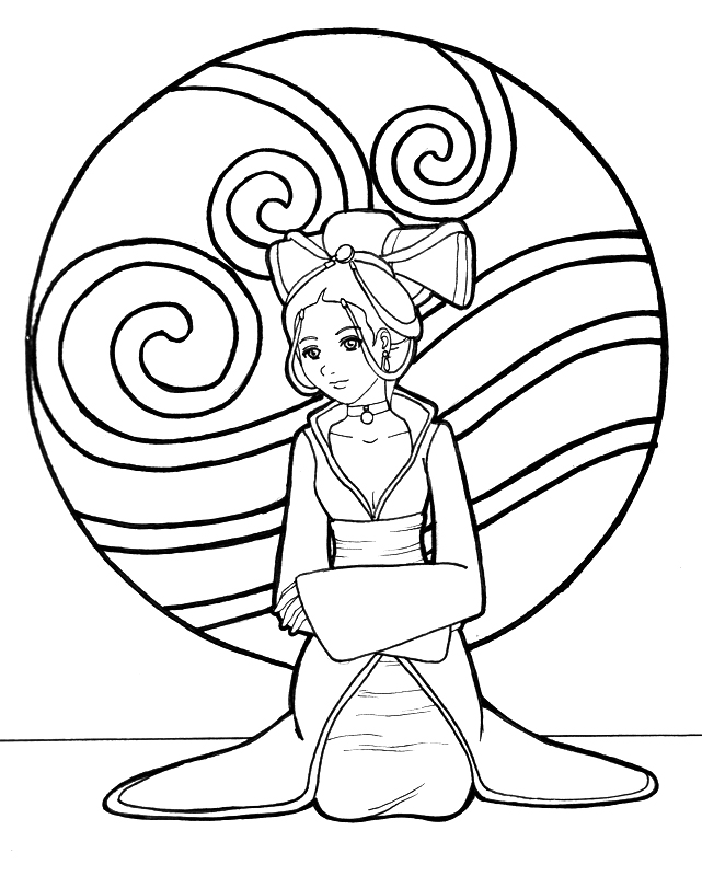 Avatar Movie Coloring Pages: Katara Of The Water Tribe By Kit-Kat-Choco On DeviantArt