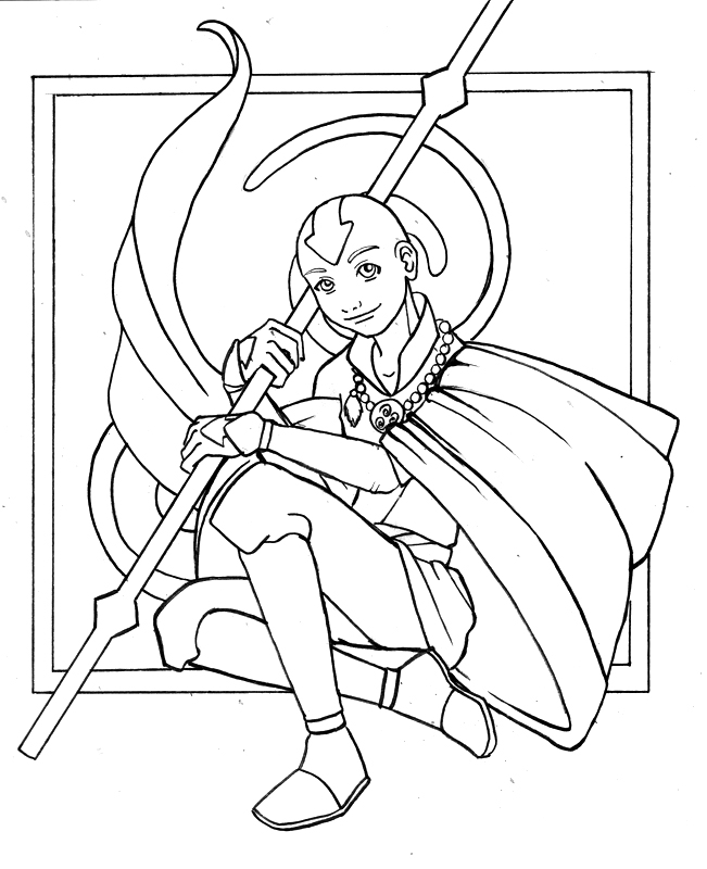 blue avatar coloring pages - aang the last airbender by kit kat choco on deviantart