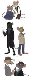 Great Mouse Detectives by muffinpoodle