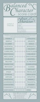 Balanced Character Score Card