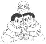 Troy and Abed and Dean Pelton