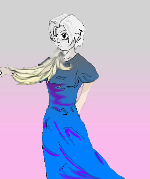 witherd blue dress by Mrknownothing