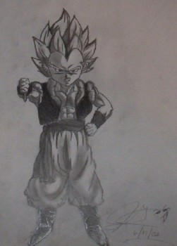 gotenks with screwed up feet by Mrknownothing