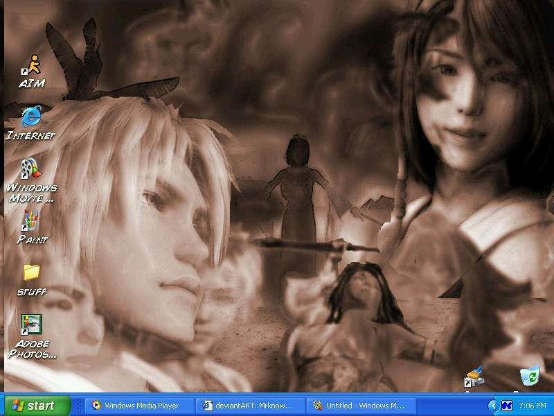 Tidus and Yuna Desktop by Mrknownothing