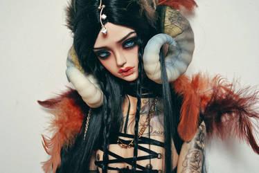 Lucifer's head dress. by Pindakees