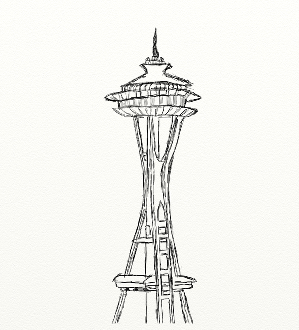 coloring pages space needle - photo#26