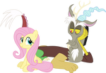 Discord and Fluttershy Vector