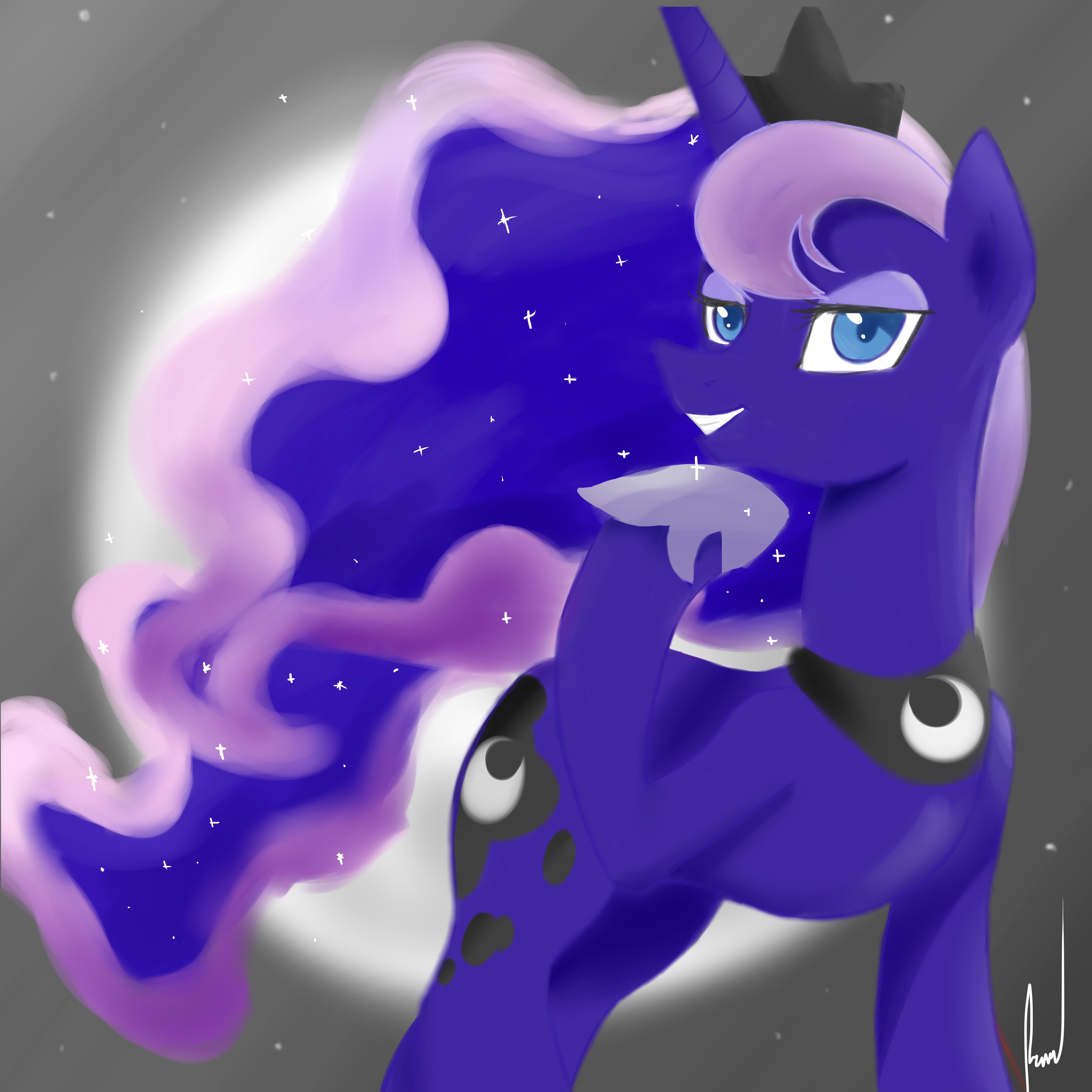 Luna Portrait by Rixnane