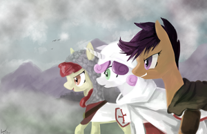 Cutie Mark Crusaders in... Crusading? by Rixnane