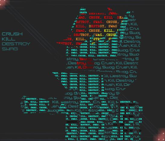 Crush Kill Destroy Swag ASCII by Rixnane
