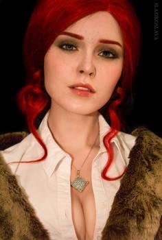 Triss Witcher 3 cosplay by Sladkoslava