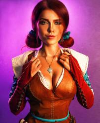 Triss The Witcher 3 cosplay by Sladkoslava