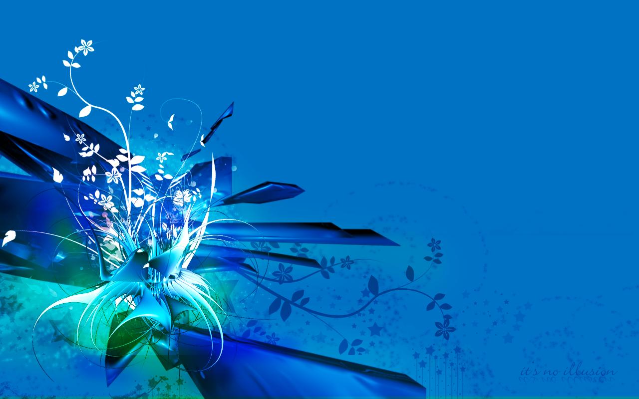 Blue Flowers Wallpaper By Noillusion On Deviantart
