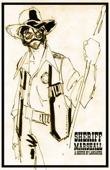 Sheriff Marshall quick sketch